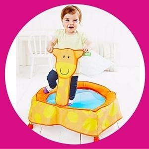 Baby giraffe trampoline