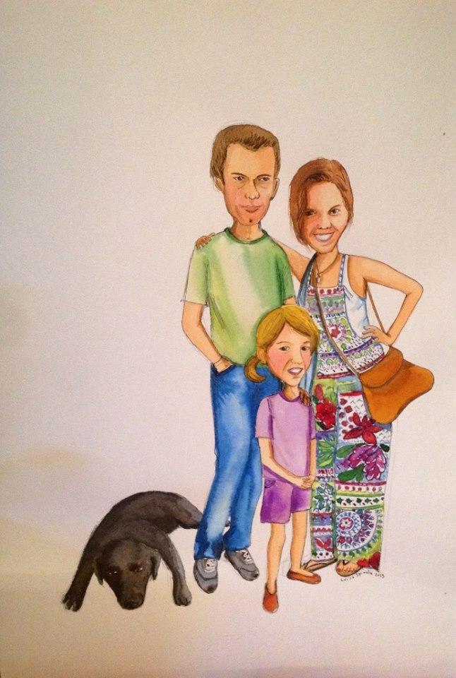 desenhos de família