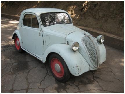 1948 Fiat Topolino 500 B. 1948 Fiat 500B Topolino Coupe