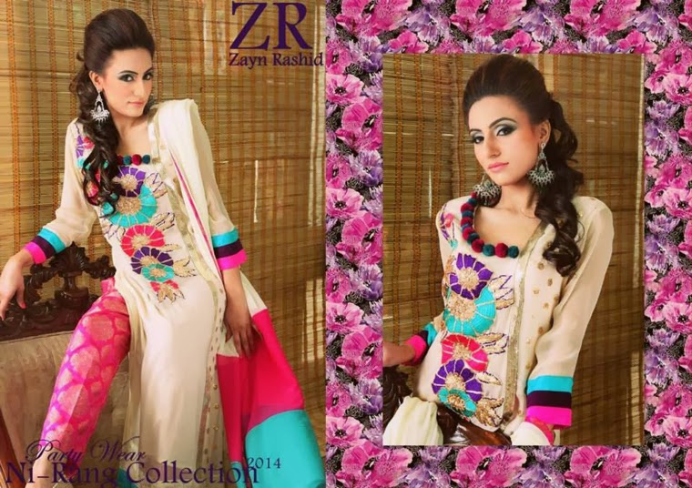 Latest Party Wear Spring 2014 Collection By Zayn Rashid-07