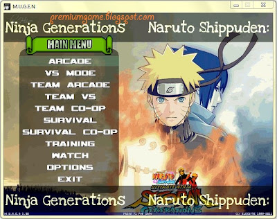 Naruto Shippuden Ninja Generations Vs mode MUGEN PC Games