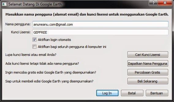 license key google earth pro 7