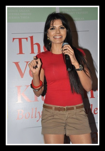 Sherlyn Chopra at Vegan Kitchen event