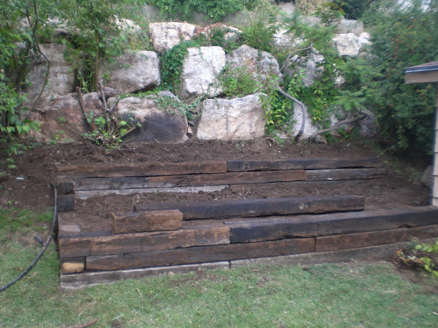 landscaping railroad ties home