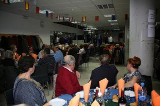 Cena de hermandad de todos los Centros de Mayores de Moratalaz.