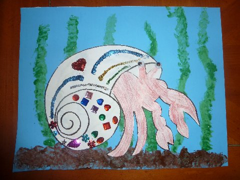 House for hermit crab art project