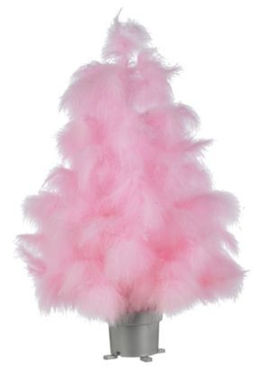 Domestic Sluttery Festive Fakery Save A Christmas Tree - Pink Feather Christmas Tree