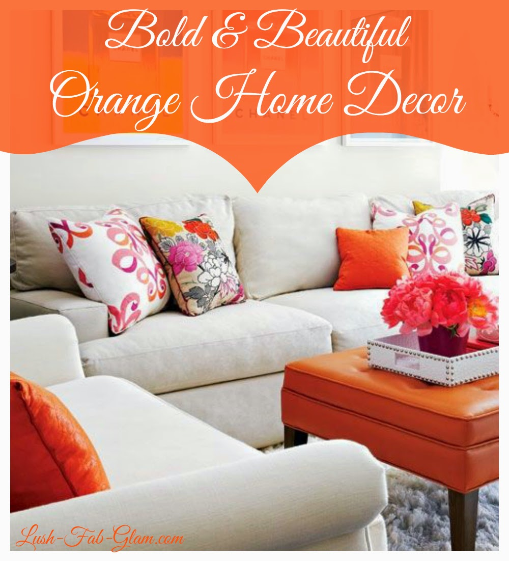 Transition From Summer To Fall With Orange Decor.