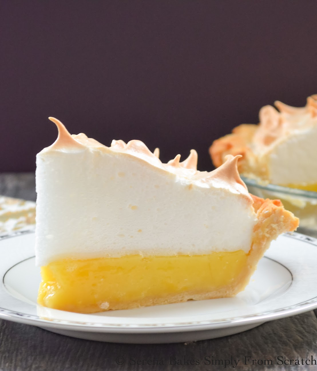 A gorgeous weep free Lemon Meringue Pie for #SundaySupper