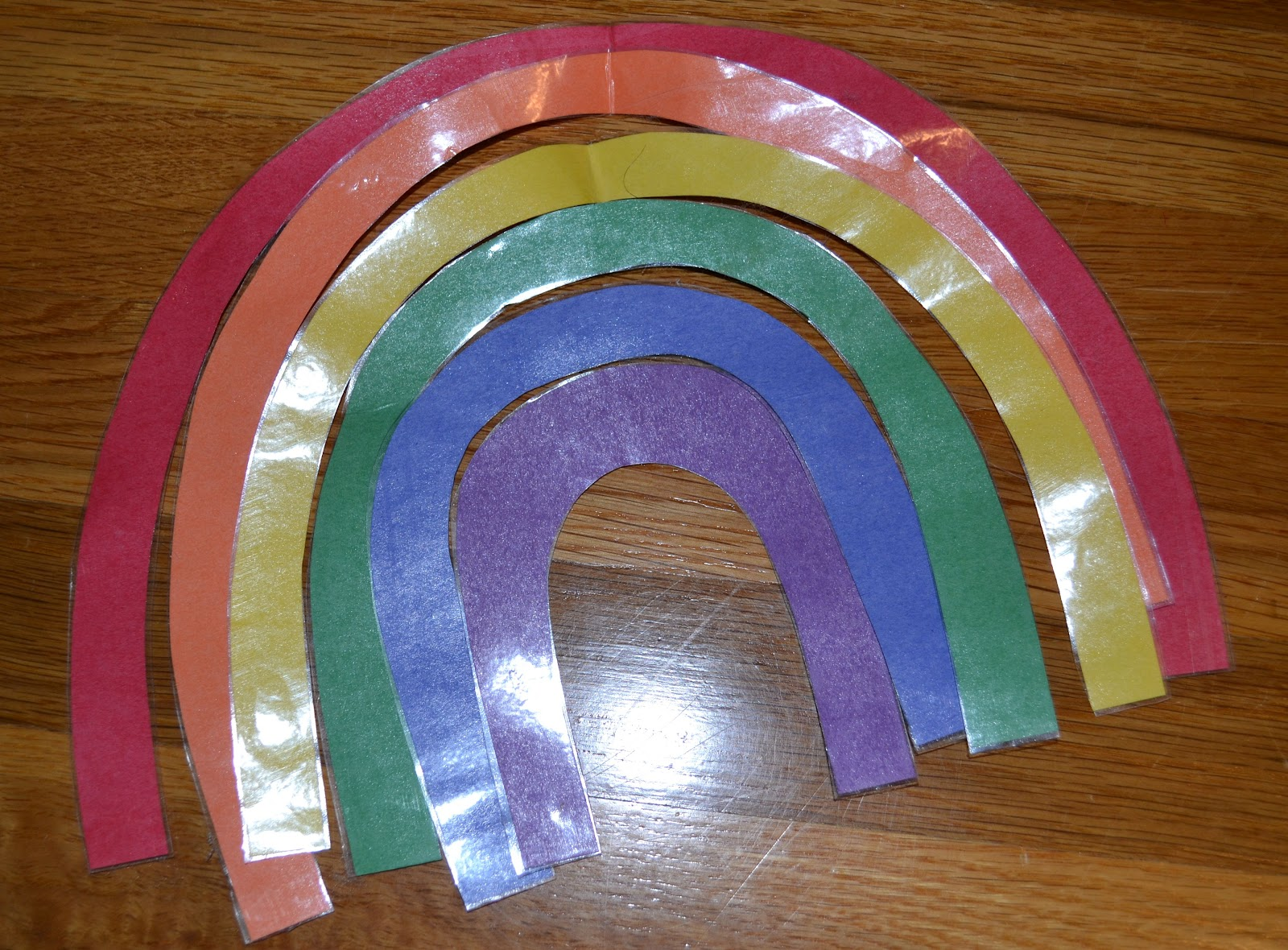 colors in the song and switched them on my paper rainbow on the flannel board then we practiced all the signed we would be using - All The Colors Of The Rainbow Song