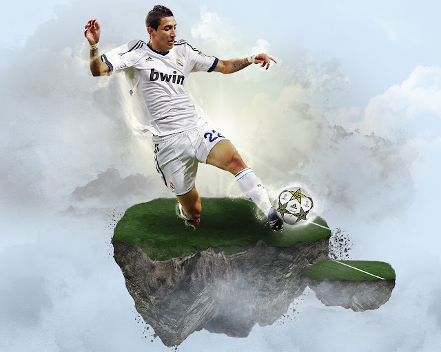 New Di Maria wallpaper HD Real madrid 2013 - 2014