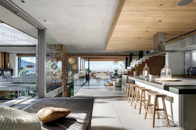 Photo of Glen House interiors showing lighten up interior space