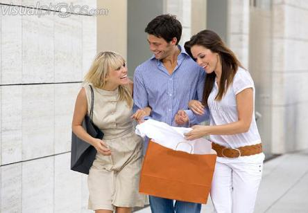 two_happy_women_and_man_in_the_city_with_shopping_bag - Dating Your Friend's Ex - Dos & Don'ts !!!