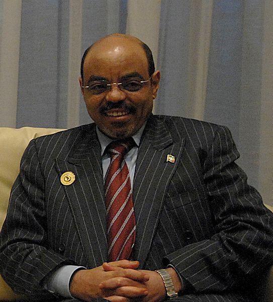 Meles Zenawi; al frente de Ethiopia desde mayo 28, 1991