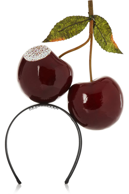 via fashionedbylove : bitten cherries head piece