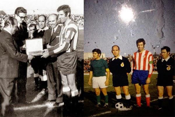 Luís Aragones inaugurando el Salto del Caballo. 25/11/1973