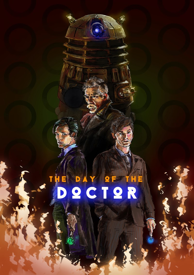 carl matthew edwards art day of the doctor poster