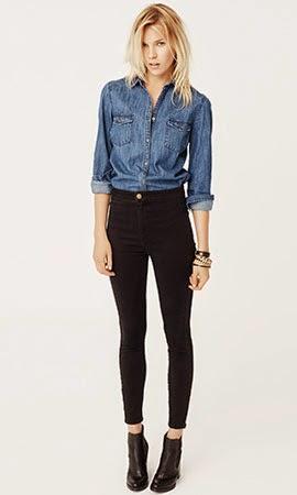 camisa jeans Suiteblanco mulher outono inverno 2014 jeans & denim