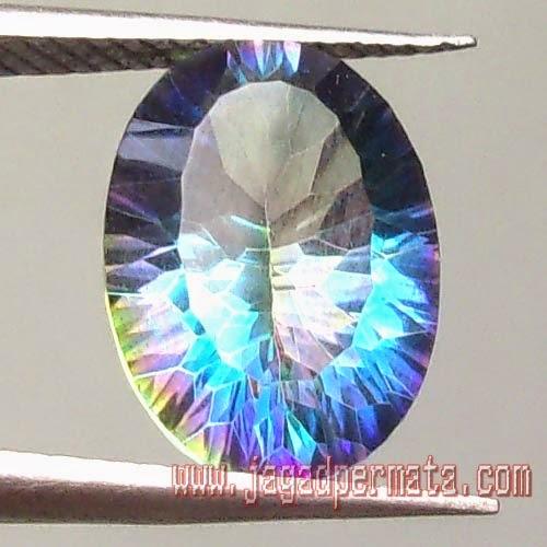 Batu Permata Natural Mystic Quartz