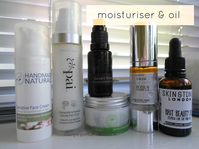 Sugarpuffish's Current Natural & Organic Skincare Routine June 2015 Moisturiser Facial oils