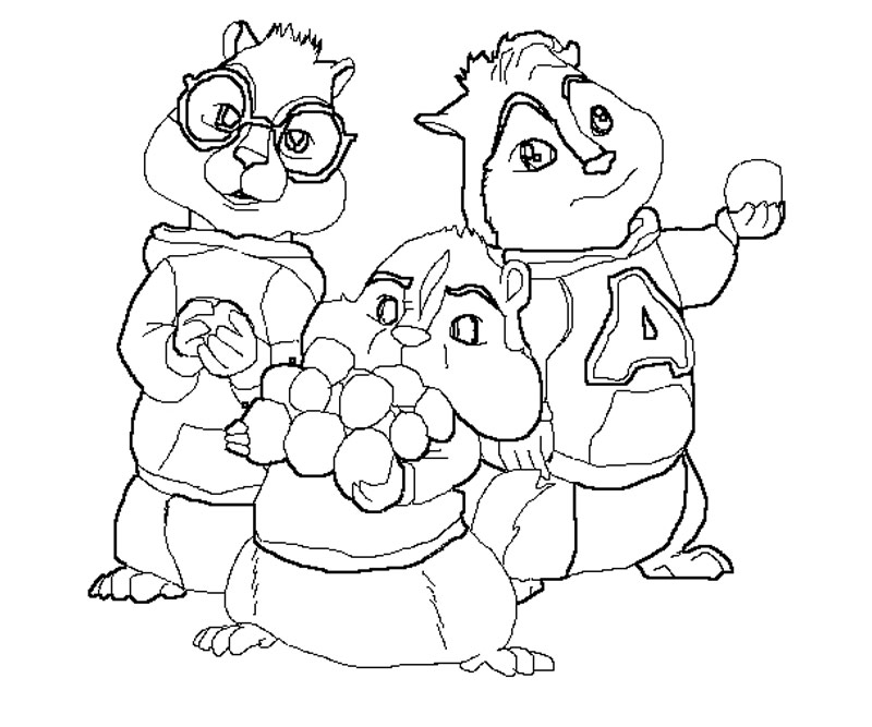 the chipettes coloring pages free - photo#16