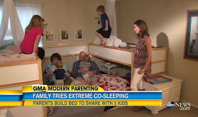 Meet the couple who sleep with their 5 children on the same bed