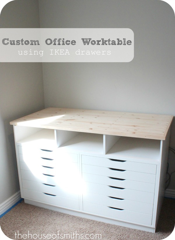 A Blogger S Office Makeover Custom Office Worktable