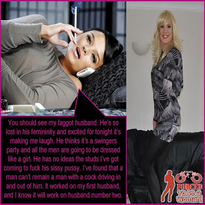 Gender Bender Swingers Party - World TG Caption - Sissy Tale