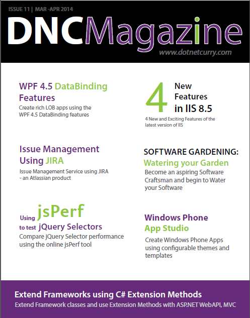 http://www.dotnetcurry.com/magazine/dnc-magazine-issue11.aspx