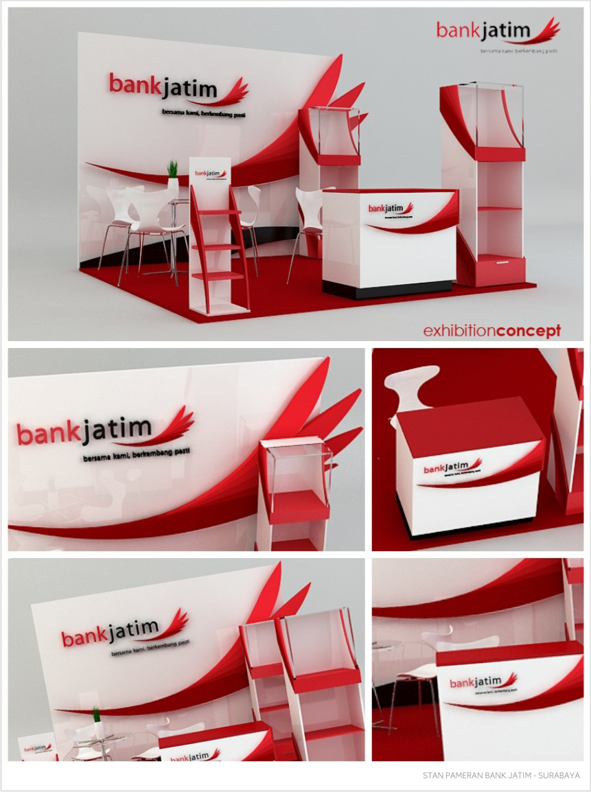 DESAIN STAN PAMERAN BANK JATIM