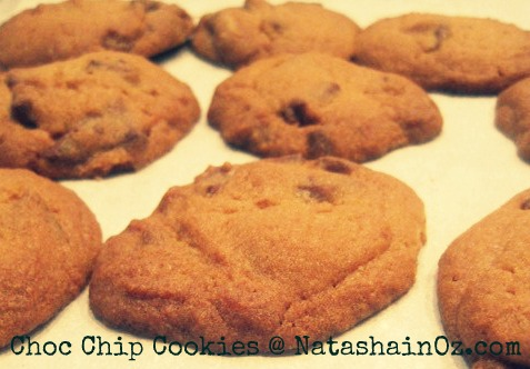 Say G'Day Saturday, The BEST Choc Chip Cookie Recipe Ever, Choc chip cookies image