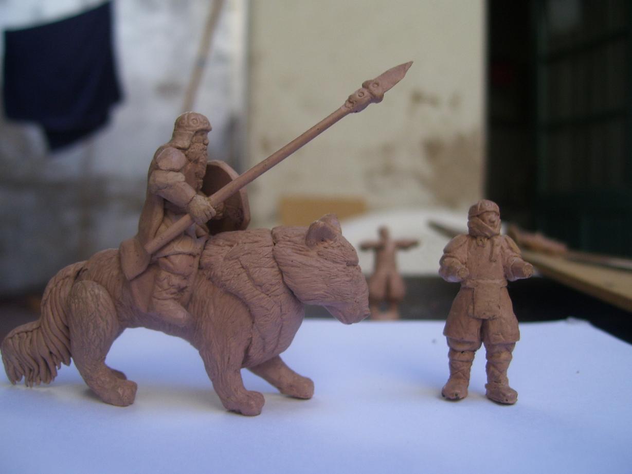 Miniaturas modeladas por mi , para juego de mesa