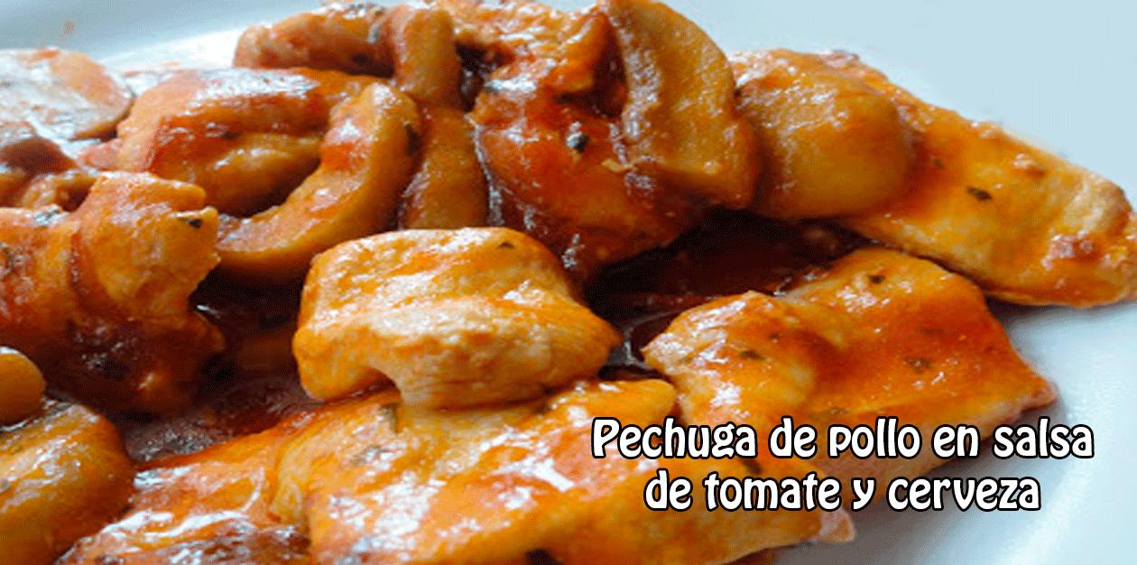 Pechuga de pollo en salsa de tomate y cerveza cocina - Pechuga d pollo en salsa ...