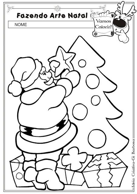 Desenhos super fofinhos de Natal para colorir