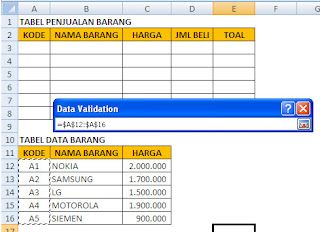 validasi data excel