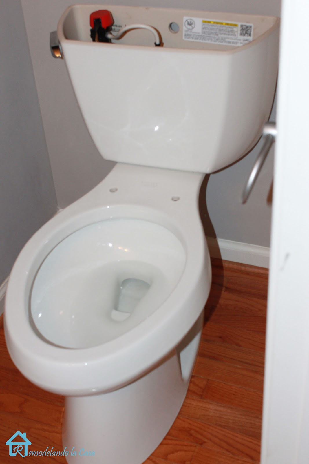 our old toilet was already installed with a flexible supply line we reattached it to the new toilet