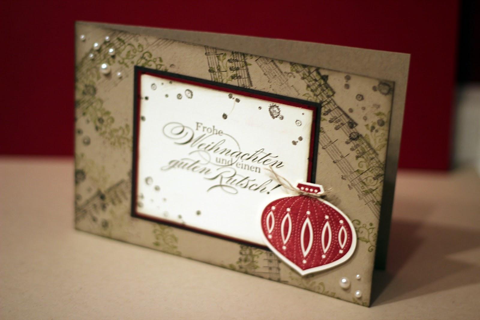 weihnachtskarten mit stampin 39 up. Black Bedroom Furniture Sets. Home Design Ideas