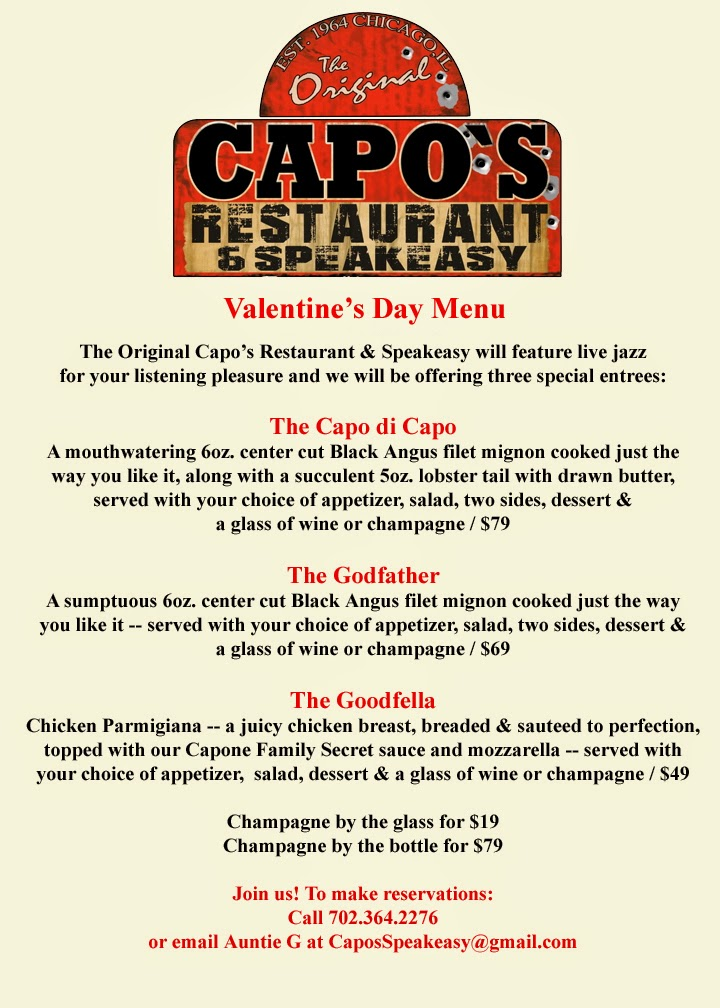 capo's restaurant: valentine's day menu specials, Ideas