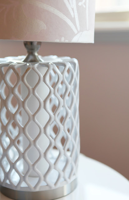 Cover Lamp Shade in Leftover Wallpaper DIY Home Goods Lamp Brooke Jones Interior