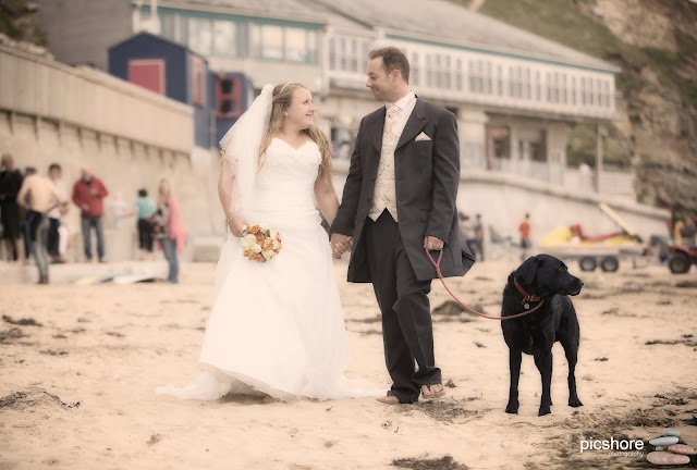 cornwall beach wedding Picshore Photography cherish the dress photoshoot watergate bay