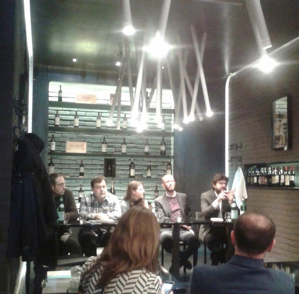 tavolo della presentazione della guida I Cento di Roma 2015