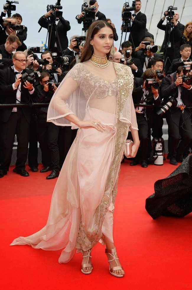Sonam Kapoor in Anamika Khanna Couture Sari