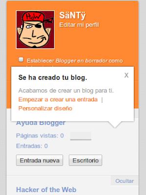 Blog creado
