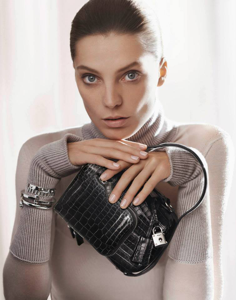 Daria Werbowy by David Sims for Salvatore Ferragamo Fall/Winter 2013 campaign via fashioned by love british fashion blog