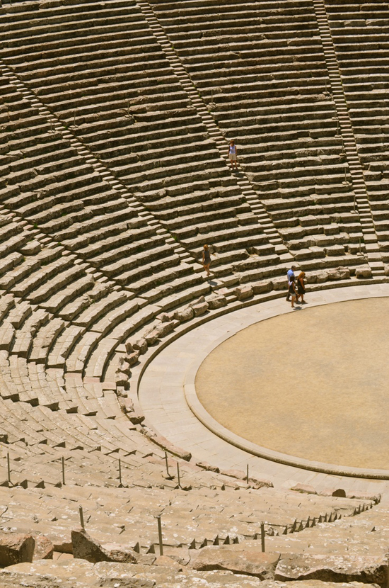 Photo of the ancient theater of Epidaurus, Greece by Rufus Bixton