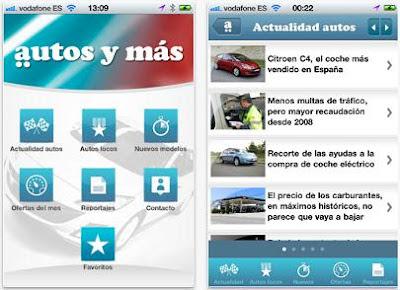 Autos y más, aplicacion gratis para iPhone sobre el mundo del motor