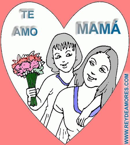 colorear imagenes para mamá