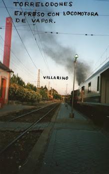 Tren Expreso con Loc. de vapor a su paso por Torrelodones ,Madrid