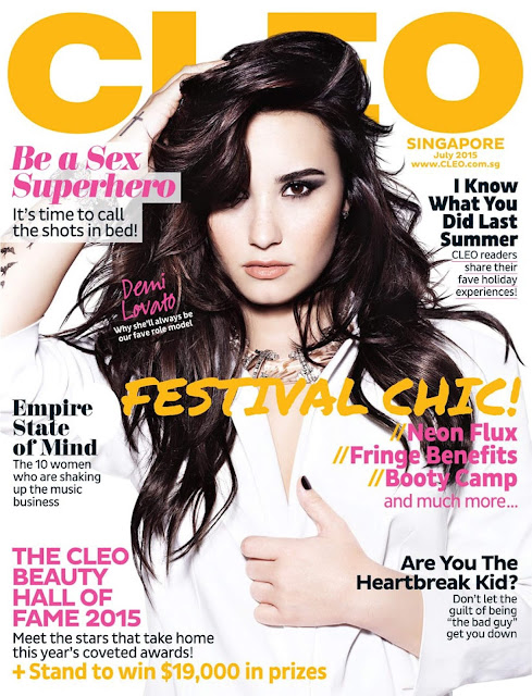 Actress, Singer @ Demi Lovato - Cleo Singapore, July 2015