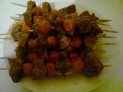 Cajun Beef Kebab Sticks